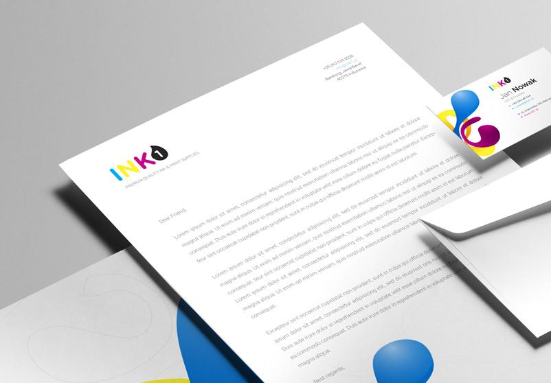 Projekt identyfikacji wizualne firmy ink1
